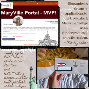 A film student's dream as a transfer applicant to Maryville College & U of Idaho (UG) 🇺🇸