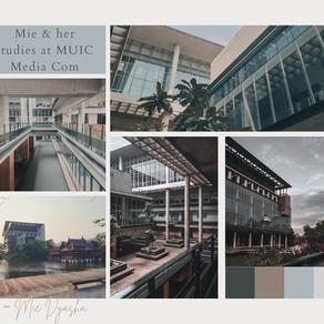 Mie's life & her studies at MUIC Media Com (การเรียนที่มหิดลอินเตอร์) 💜
