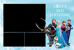 Frozen Themed Birthday Photo Booth Template