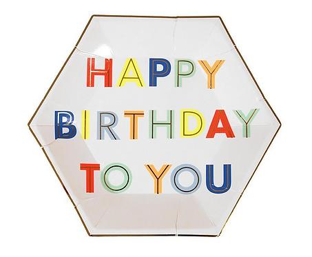 Meri Meri Happy Birthday to You Plates
