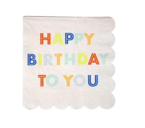 Meri Meri Happy Birthday to Napkins