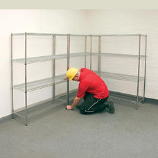 Wire Shelving Installation