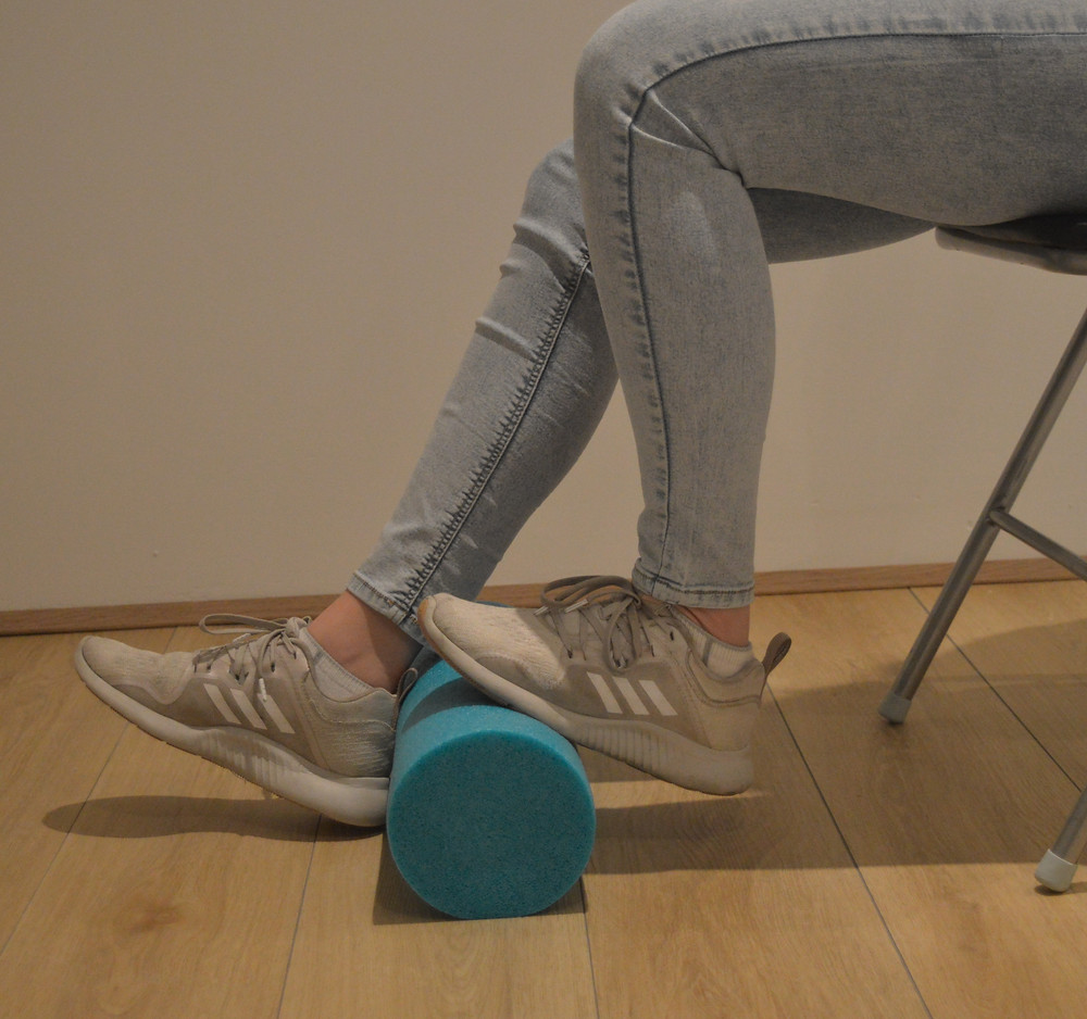 Ankle mobilisations with the foam roller
