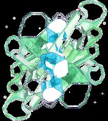 Akarell Jade crystal, Gemstone