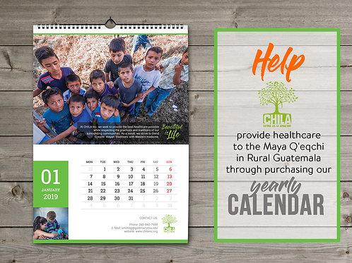 CHILA Guatemala 2019 Calendar