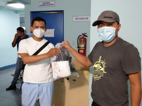 CHILA PPE kits distributed to Centro de Salud members, July, 2020.