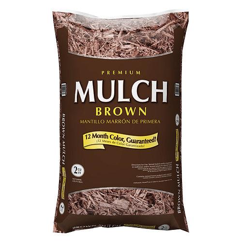 Premium Brown Mulch - 2 cubic feet