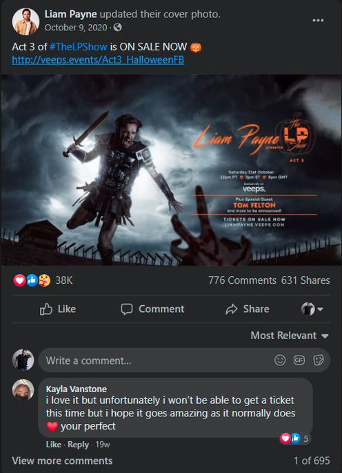 Liam Payne The LP Show Rebel North Creat
