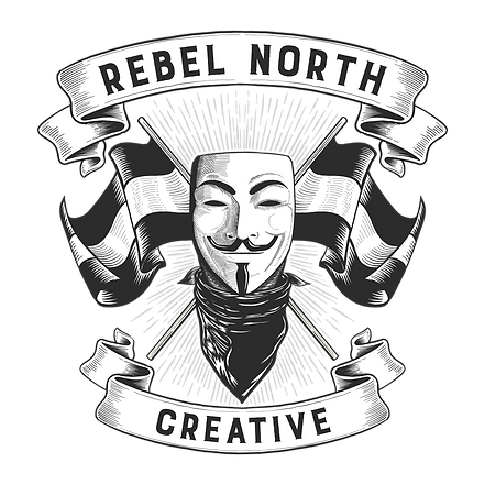 t-shirt design REBEL NORTH CREATIVE blac