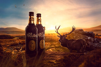 Advertising campaign artwork featuring old peculier