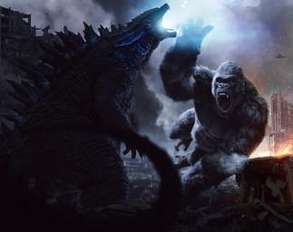 Godzilla vs kong concept art Rebel North