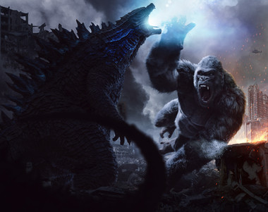Godzilla vs kong concept art Rebel North