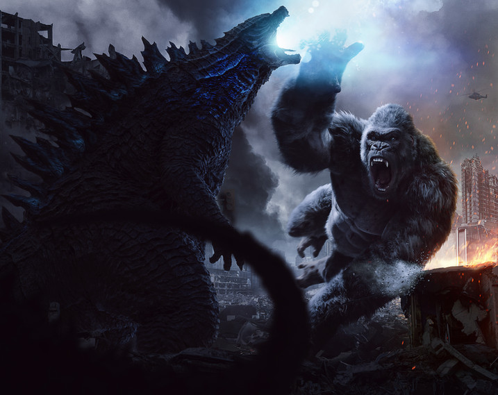 Godzilla vs kong concept art Rebel North Creative