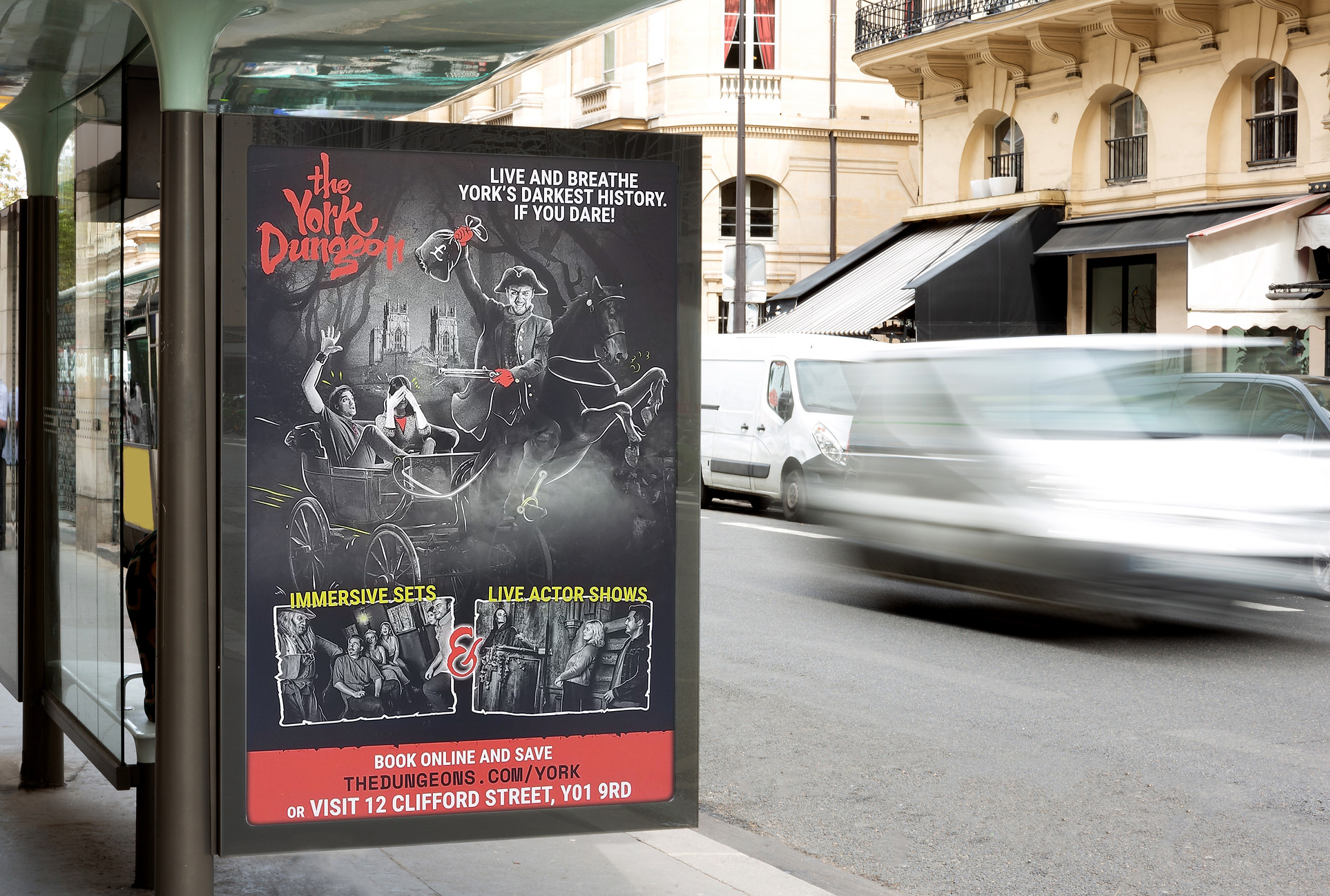 York Dungeon Poster for advertising & brand purposes by rebel north creative