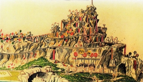 The proposed Big Rock Candy Mountain for Disneyland in the 1950's