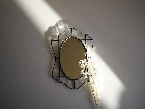 ステンドグラスの壁掛け鏡