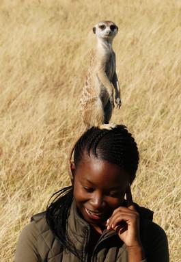 BK with Meercat, Botswana