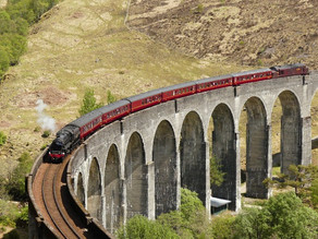 Photographing at the Harry Potter viaduct!