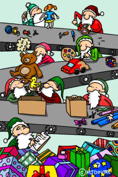 Carte de Noël - Cadeaux