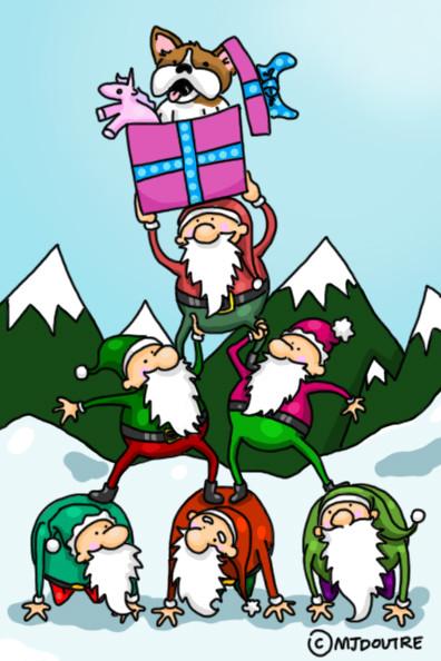 Carte de Noël - Juliette