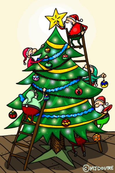 Carte de Noël -Sapin
