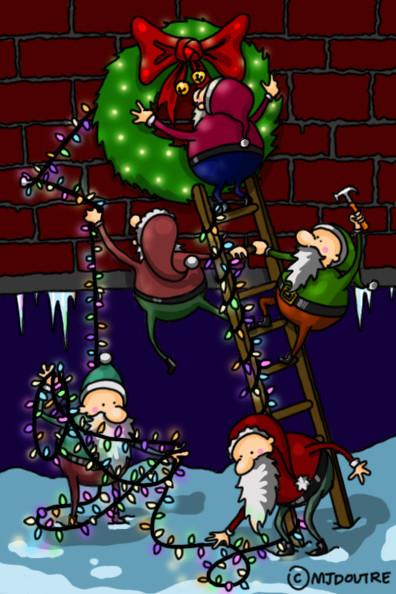 Carte de Noël - Couronne