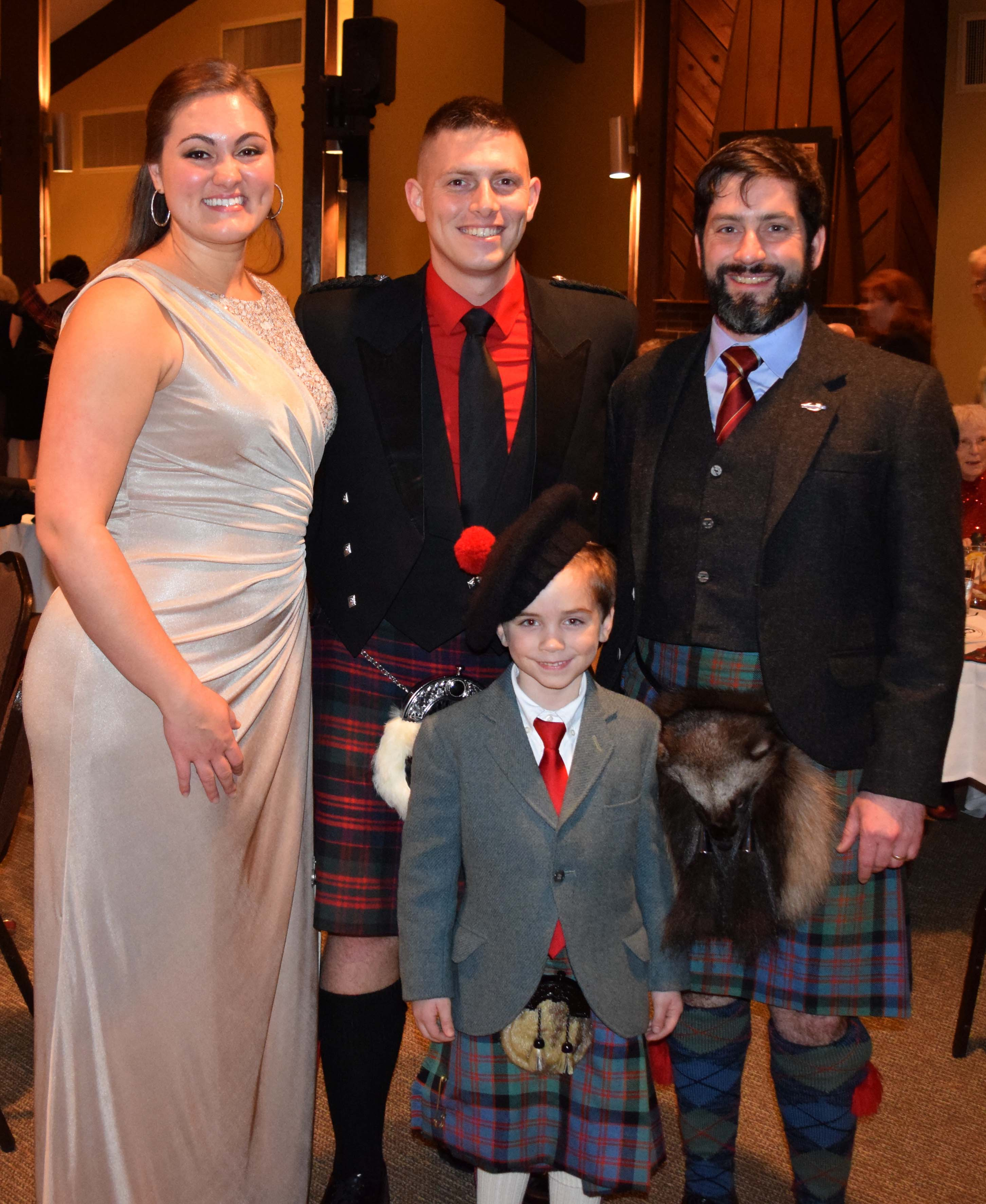 The Allens with Jeff Foster & son
