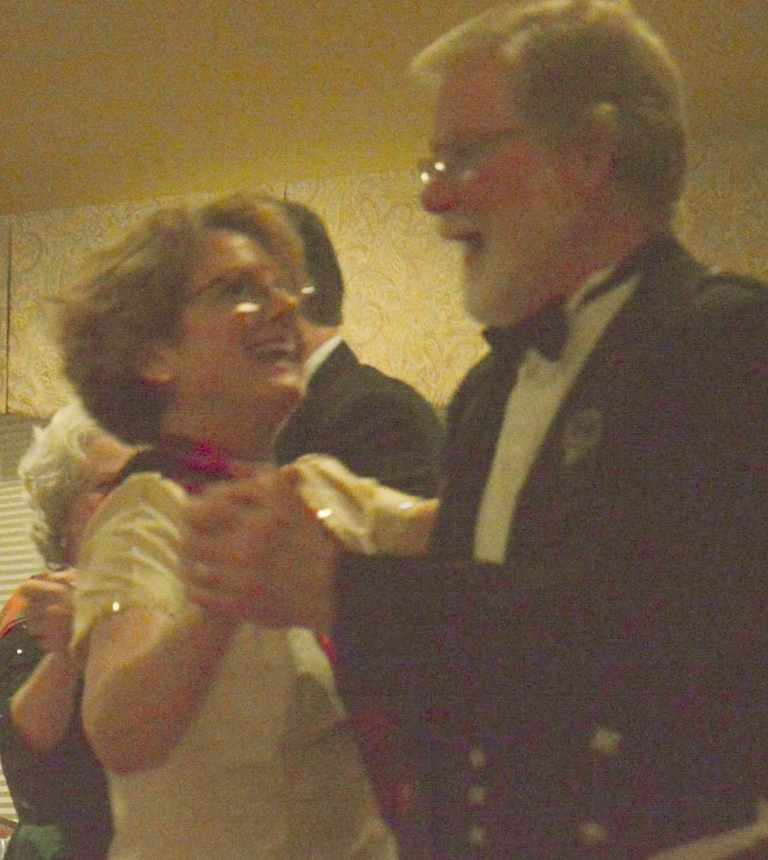 Sharon and Alan dancing dark