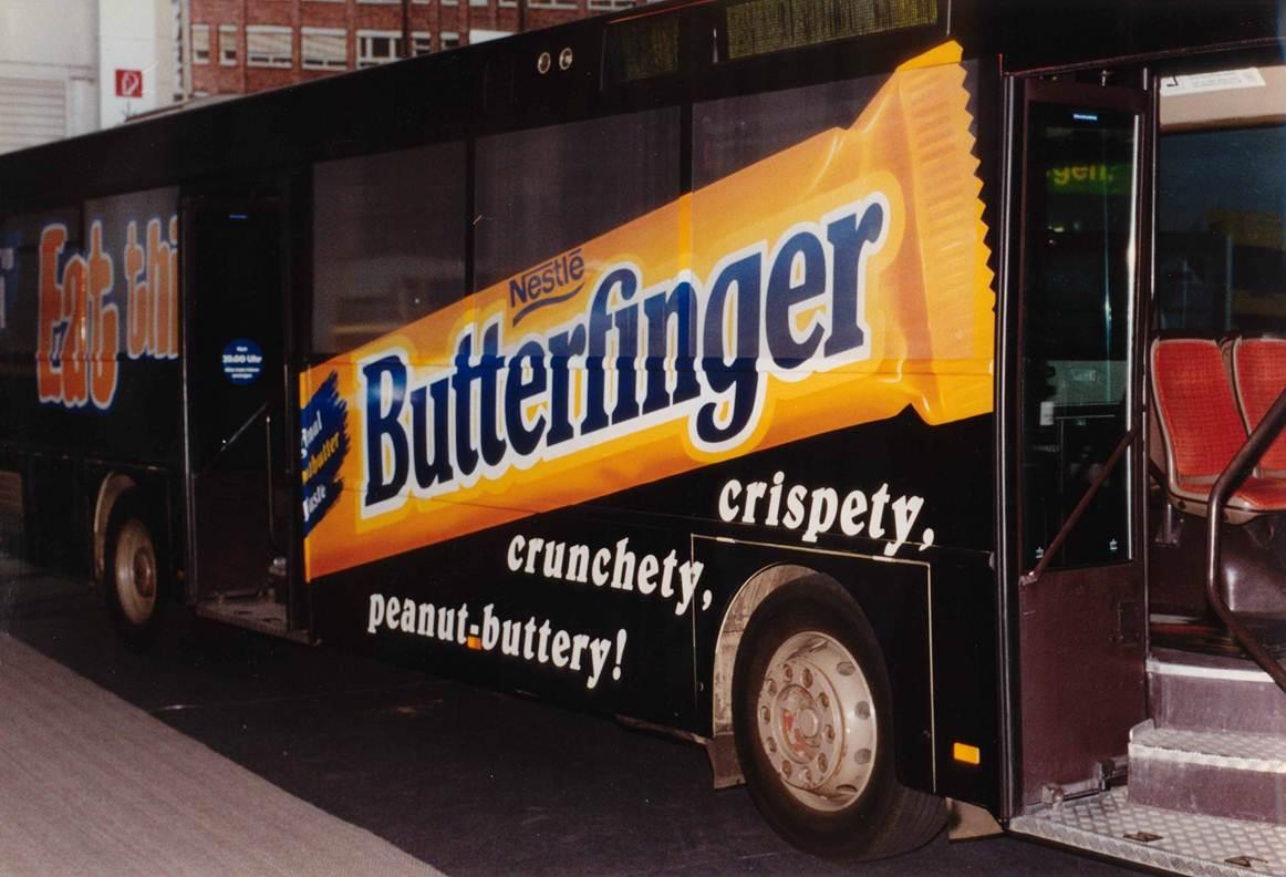 erster Bus mit Fensterfolien