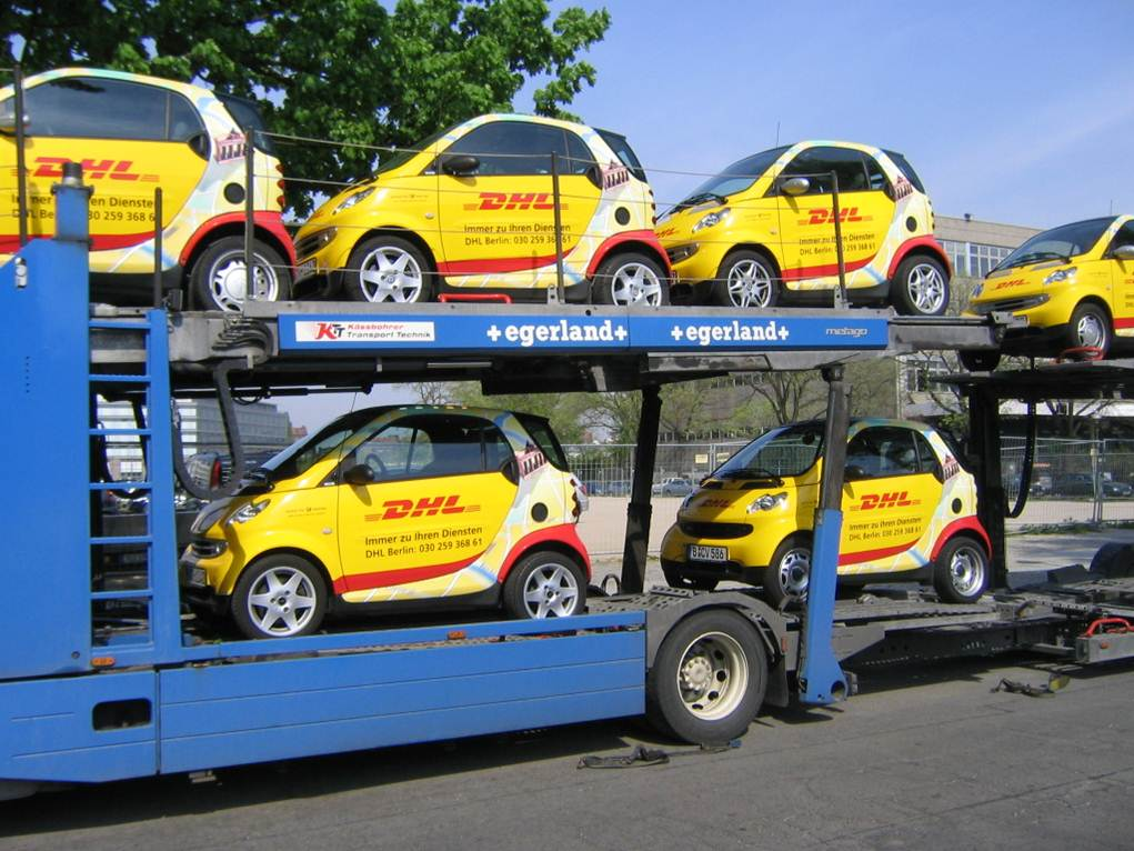 car wrapping für DHL