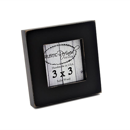 "3x3 1"" Gallery Picture Frame - Black"