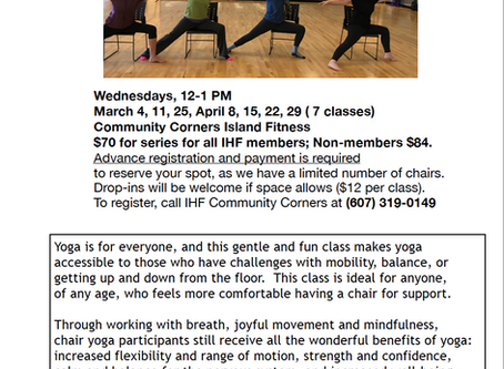 Chair Yoga--Spring Series