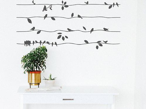 Aves en el cableado