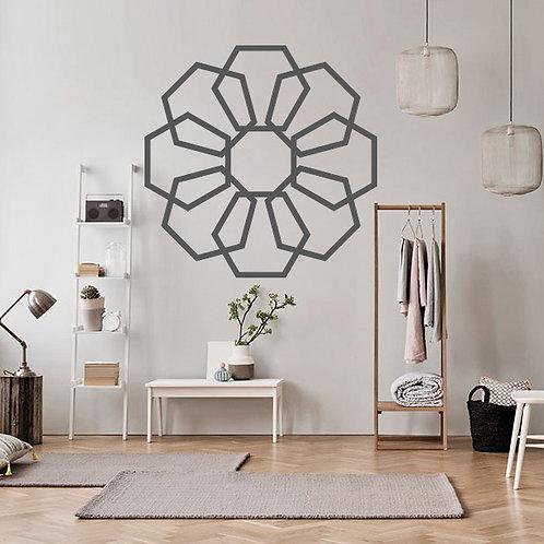 Flor hexagonal