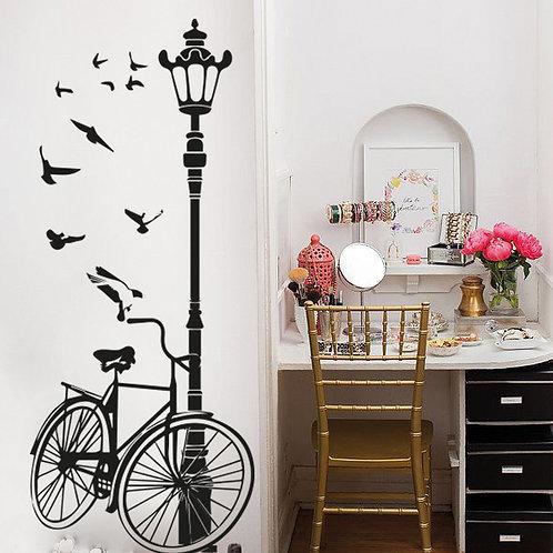 Farola con bicicleta