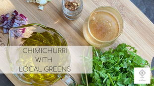 Easy Chimichurri with Local Ingredients