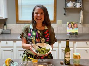 Zesty Garlic Scape Broccoli