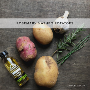 Rosemary Mashed Potatoes {Dairy Free}
