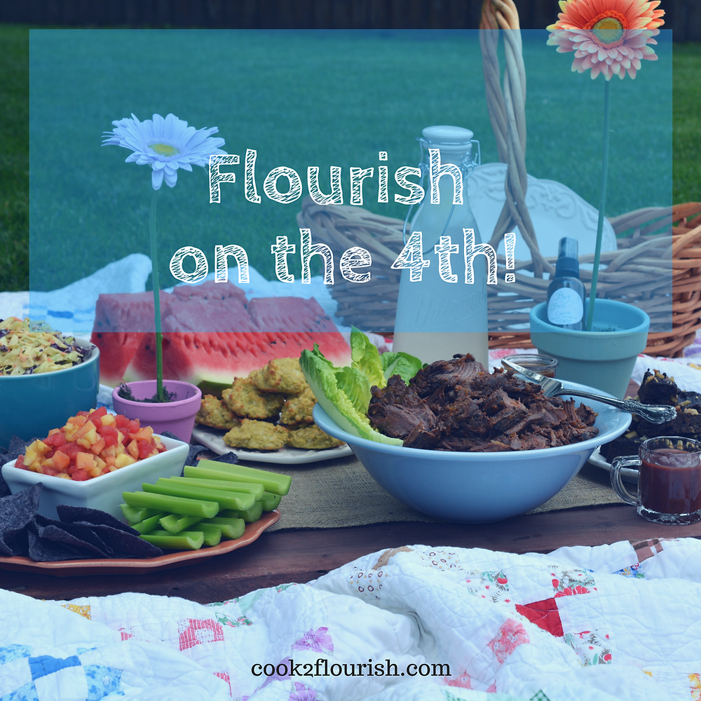 healthy Fourth of July Picnic food