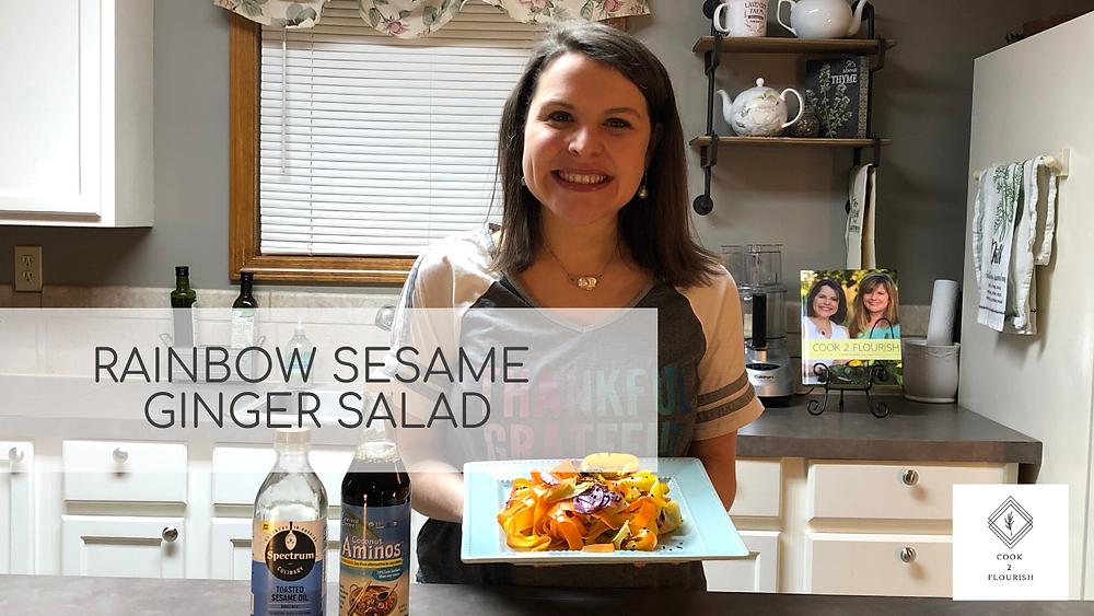 Rainbow Sesame Ginger Salad