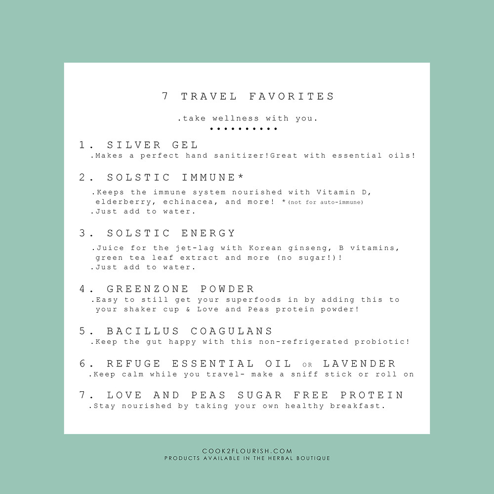 Stay healthy while you travel!