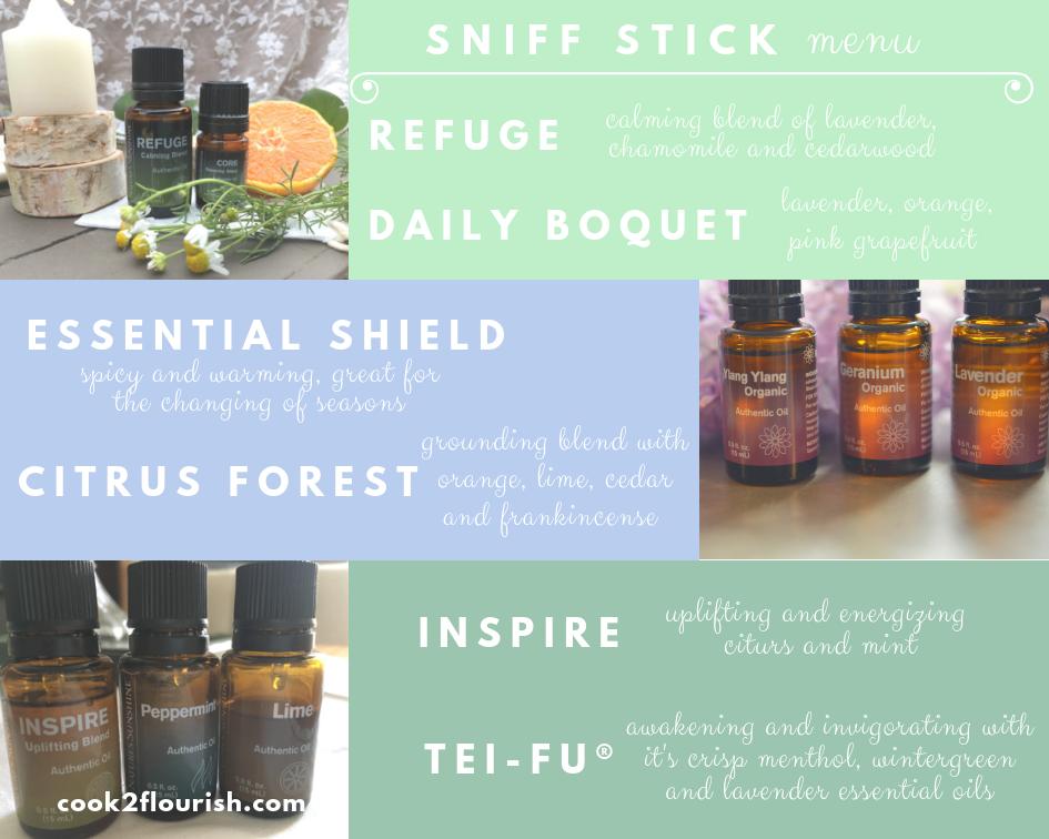 Easy Essential Oil Sniff Stick Recipes
