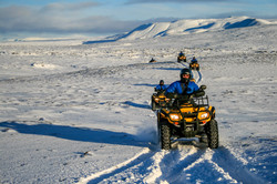 atving in snow