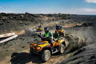"""Thrilling quad adventures in the Blue Lagoon """"back yard""""."""