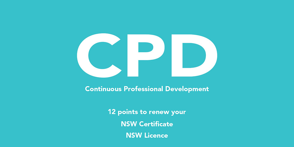 CPD online (for NSW Certificate / Licence renewal)