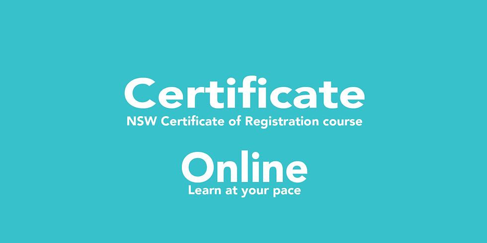 NSW COR - remote course