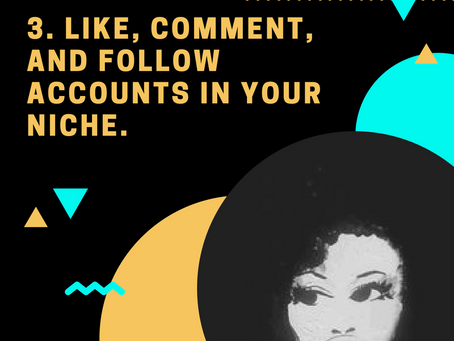 1000 Followers Challenge: Tip #3 Like, Comment and Follow other accounts in your Niche