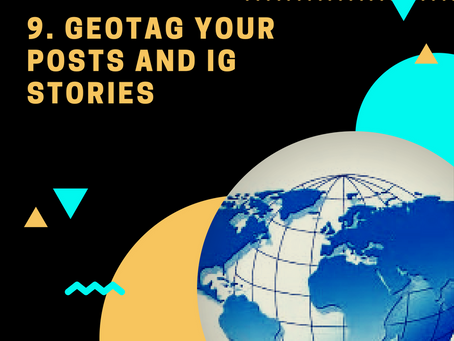 1000 Followers Challenge: Tip #9 Geotag your IG Stories and Posts