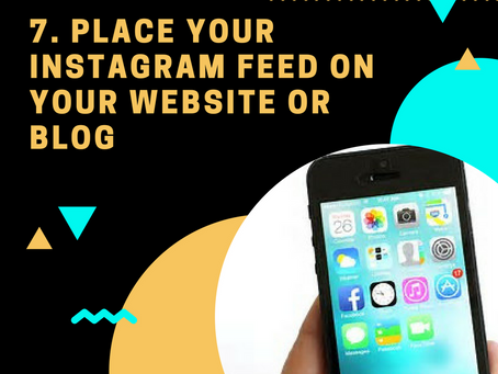 1000 Followers Challenge: Tip #7 Place your IG Feed in your Blog/Website