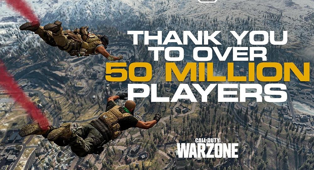 ทะลุ 50 ล้านคนไปแล้วกับ Call Of Duty: Warzone